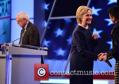 Bernie Sanders, Presidential Candidate Hillary Rodham Clinton and Sabastian De La Cruz 7