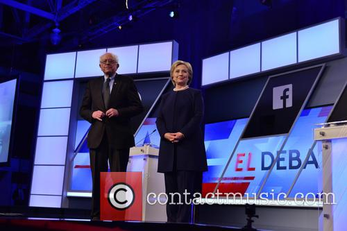 Bernie Sanders and Presidential Candidate Hillary Rodham Clinton