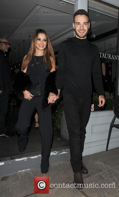 Liam Payne and Cherly leave Salmontini, London
