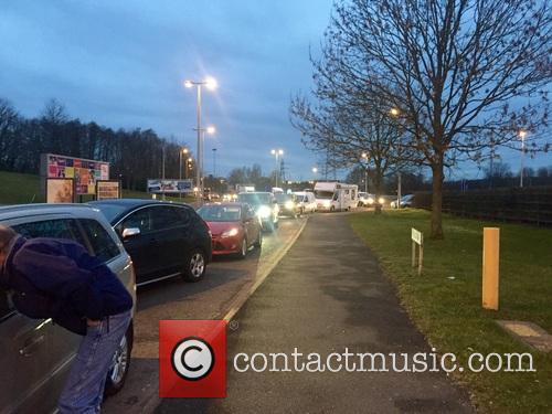 Cars Queue To Get Into Carparks At Crufts 1