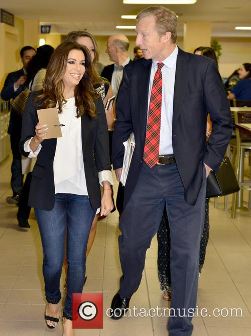 Eva Longoria and Tom Steyer 2