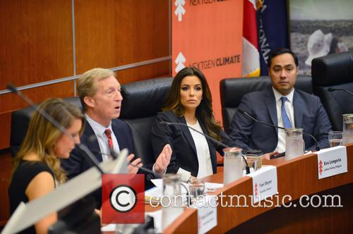Maria Cardona, Tom Steyer, Eva Longoria and Joaquin Castro 5