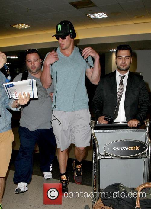 NFL star Rob Gronkowski arrives at Los Angeles...