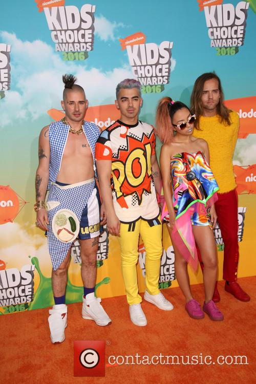 Cole Whittle, Joe Jonas, Jinjoo Lee and Jack Lawless Of Dnce 1