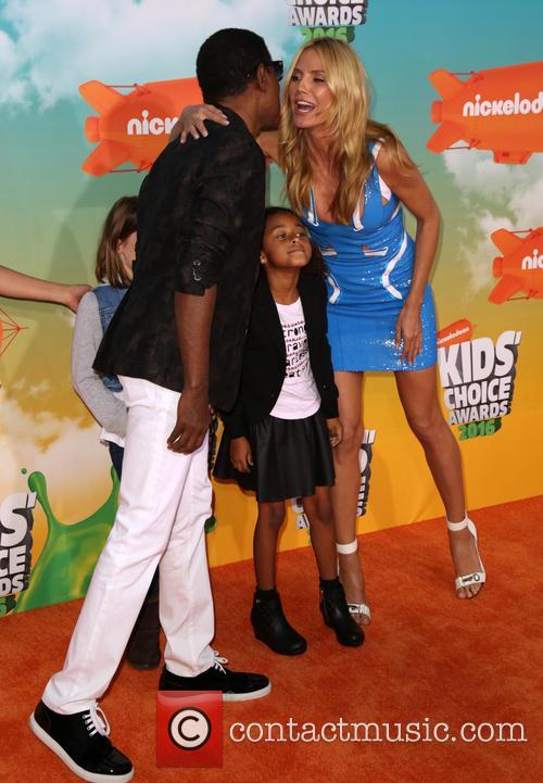 Kenny 'babyface' Edmonds, Peyton Nicole Edmonds and Heidi Klum 1