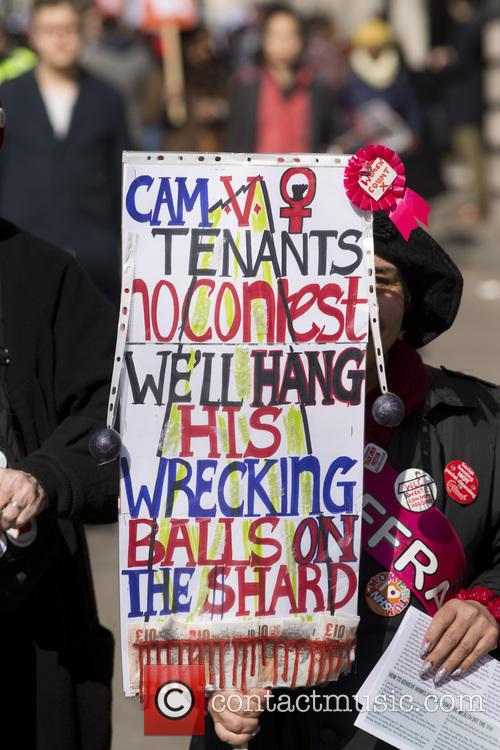 Demonstration against the Tories