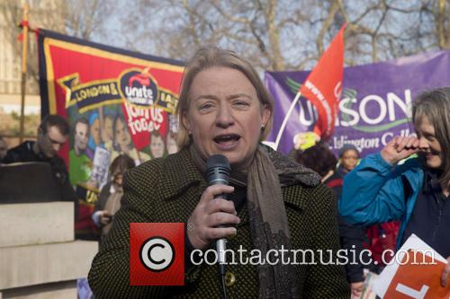John Martin McDonnell, shadow chancellor at a demonstration.