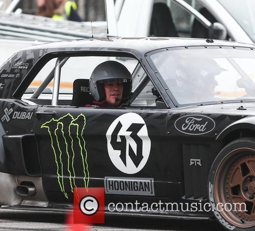 Matt LeBlanc filming 'Top Gear'