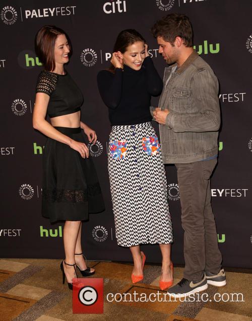 Chyler Leigh, Melissa Benoist and Jeremy Jordan 8