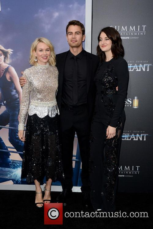 Naomi Watts, Theo James and Shailene Woodley 2