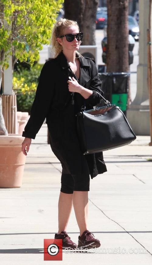 Ashlee Simpson leaving the gym in Studio City.