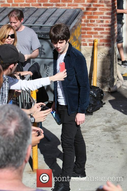 Jake Bugg seen greeting fans performing on Jimmy...