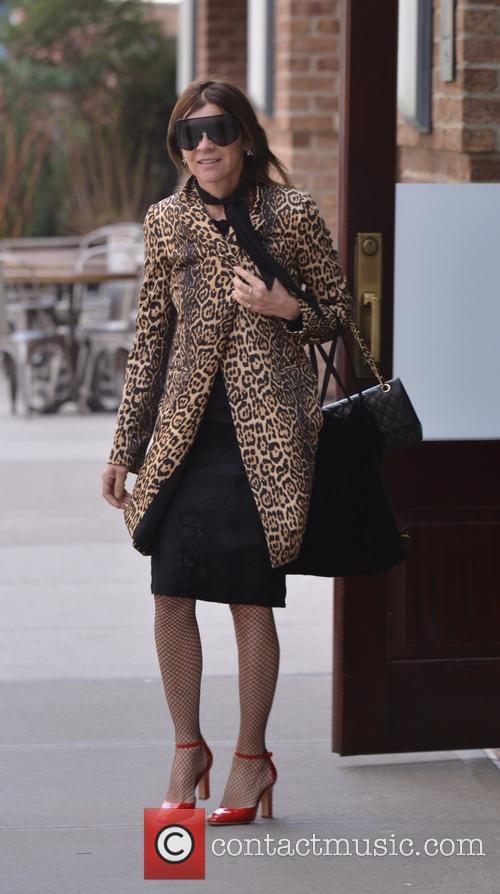 Carine Roitfeld leaving her hotel in New York