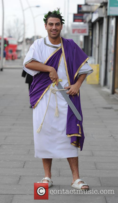 The Cast of TOWIE attend a Greek themed...