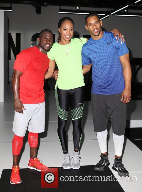 Kevin Hart, Sanya Richards-ross and Victor Cruz 10