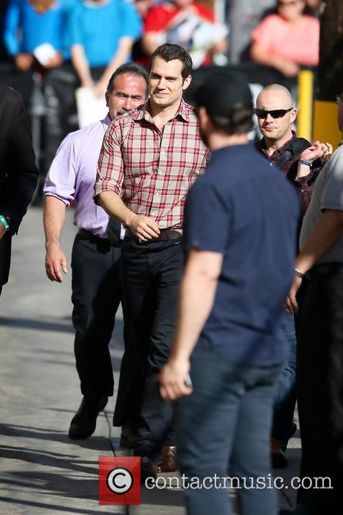 Henry Cavil seen arriving at the ABC studios