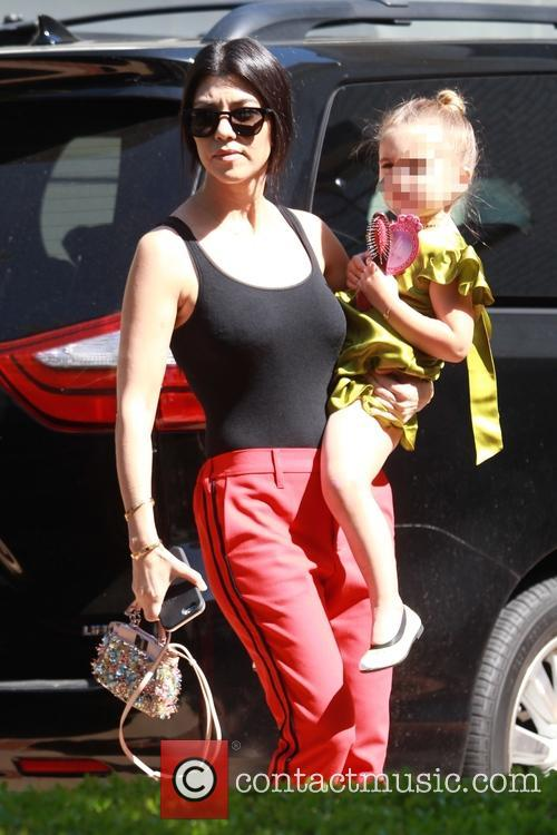 Kourtney Kardashian and Penelope Scotland Disick 3