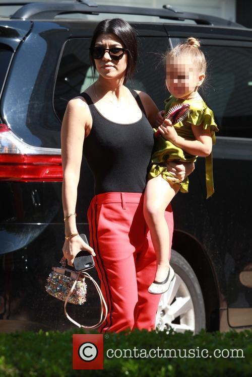 Kourtney Kardashian and Penelope Scotland Disick 6
