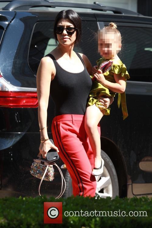 Kourtney Kardashian and Penelope Scotland Disick 7