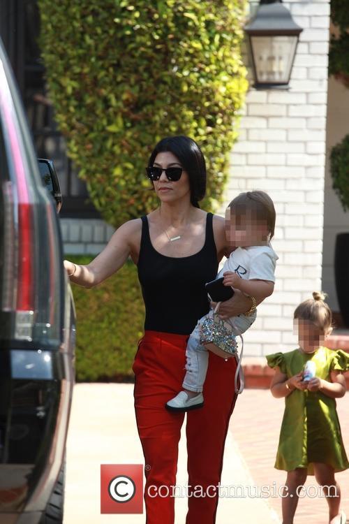 Kourtney Kardashian, Penelope Scotland Disick and Reign Aston Disick 11