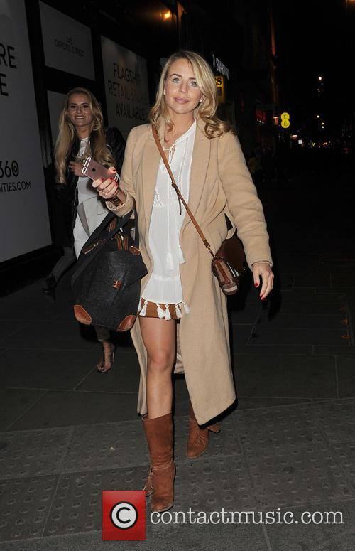 Celebrities enjoy a night out in Mayfair