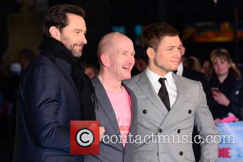 Hugh Jackman, Eddie 'the Eagle' Edwards and Taron Egerton 1