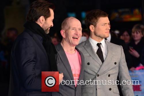 Hugh Jackman, Eddie 'the Eagle' Edwards and Taron Egerton 2