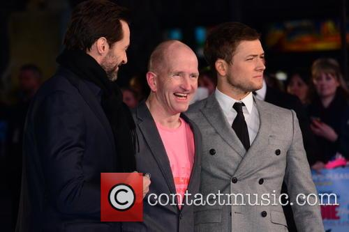 Hugh Jackman, Eddie 'the Eagle' Edwards and Taron Egerton 3