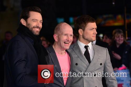 Hugh Jackman, Eddie 'the Eagle' Edwards and Taron Egerton 5