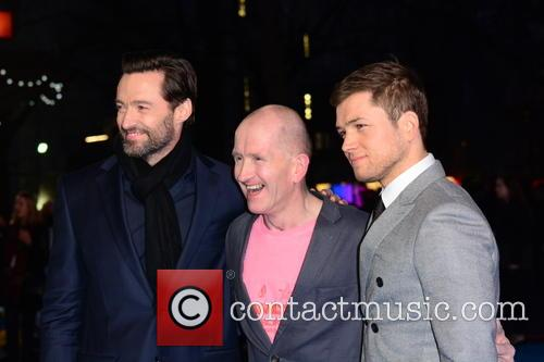Hugh Jackman, Eddie 'the Eagle' Edwards and Taron Egerton 7