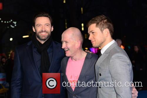 Hugh Jackman, Eddie 'the Eagle' Edwards and Taron Egerton 8