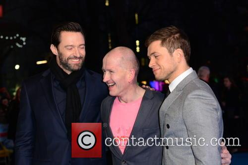 Hugh Jackman, Eddie 'the Eagle' Edwards and Taron Egerton 9