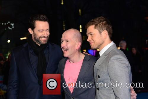 Hugh Jackman, Eddie 'the Eagle' Edwards and Taron Egerton 10
