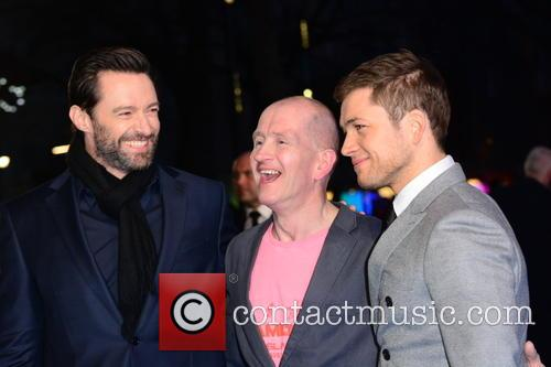 Hugh Jackman, Eddie 'the Eagle' Edwards and Taron Egerton 11