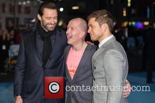 Eddie The Eagle, Hugh Jackman and Taron Egerton 1