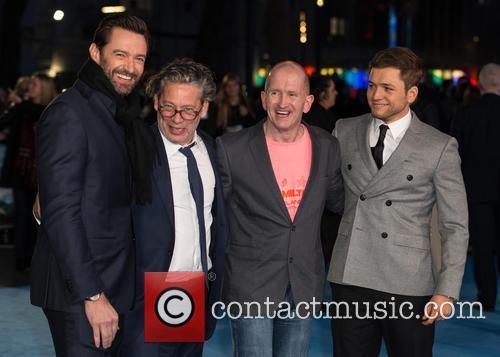Eddie The Eagle, Hugh Jackman, Taron Egerton and Dexter Fletcher 3