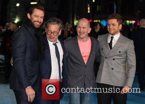 Eddie The Eagle, Hugh Jackman, Taron Egerton and Dexter Fletcher 4