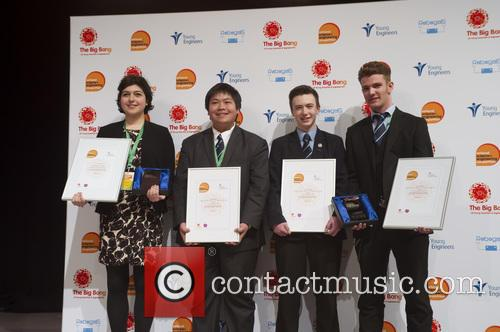 Roxanne El-hady Winner Uk Young Scientist Of The Year, Stuart Chau, Ethan Dunbar Baker, Rogan Mcgilp and Winners Uk Young Engineers Of The Year 2016 5