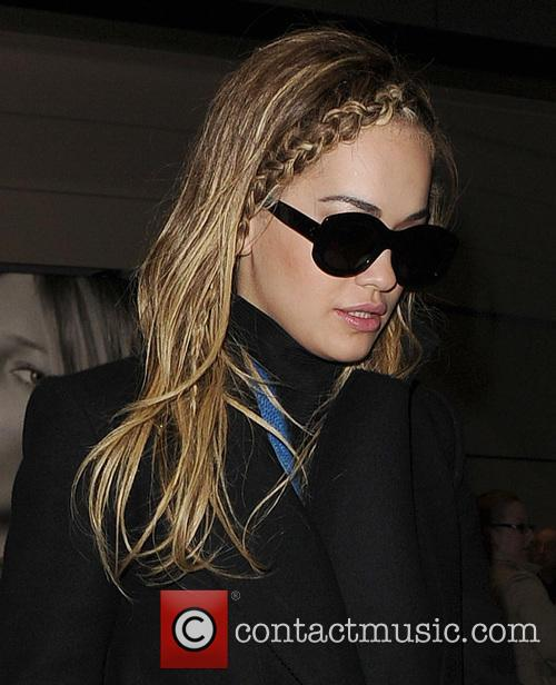 Rita Ora arrives back at London Heathrow Airport,...