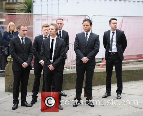 Ryan Thomas, Jack P Shepherd, Mikey North, Sam Aston, Andy Whyment and Alan Halsall 4