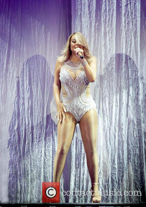 Mariah Carey performs at the Manchester Arena on...