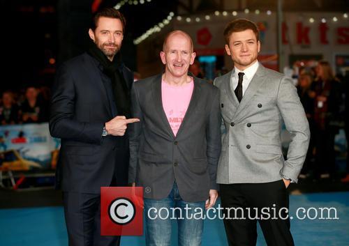 Hugh Jackman, Eddie Edwards and Taron Egerton 2