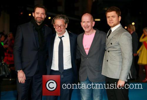 Hugh Jackman, Dexter Fletcher, Eddie Edwards and Taron Egerton 4