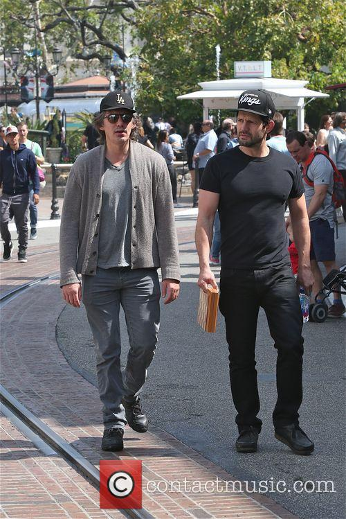 Lukas Haas visits The Grove with a friend