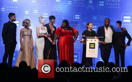 Jussie Smollett, Serayah, Kaitlin Doubleday, Ta'rhonda Jones, Gabourey Sidibe, Ilene Chaiken, Lee Daniels and Bryshere 'yazz' Gray 8