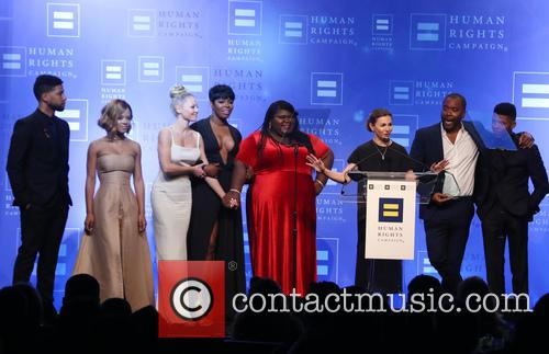 Jussie Smollett, Serayah, Kaitlin Doubleday, Ta'rhonda Jones, Gabourey Sidibe, Ilene Chaiken, Lee Daniels and Bryshere 'yazz' Gray 10