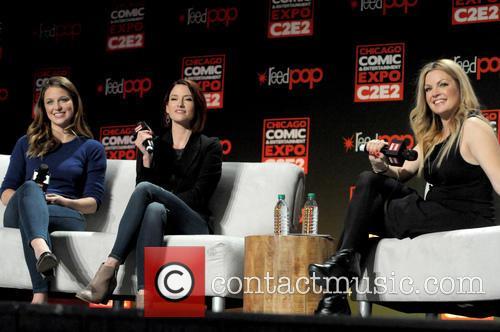 Chyler Leigh, Melissa Benoist and Clare Kramer 5