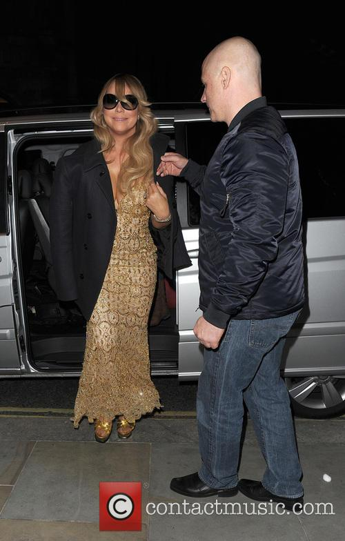 Mariah Carey arrives back at her hotel, following...