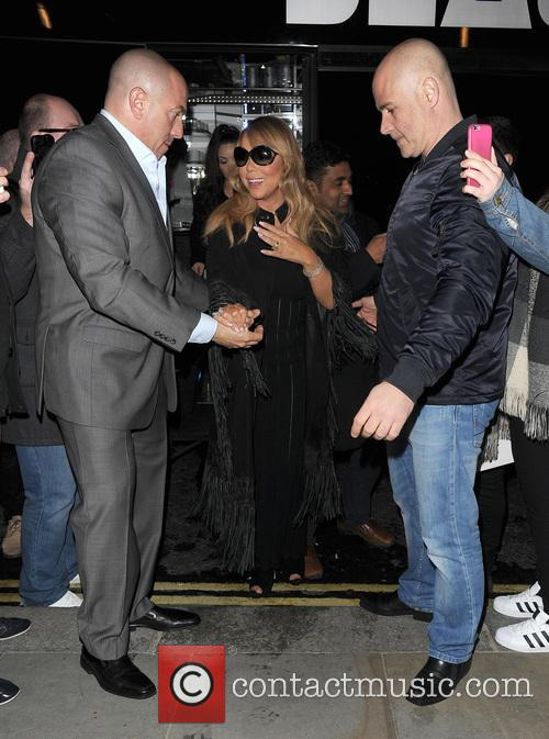 Mariah Carey arrives back at her hotel