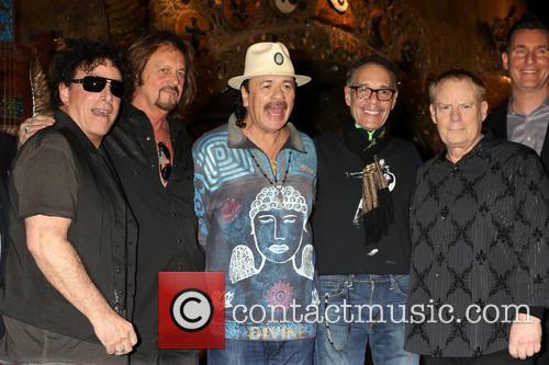 Neal Schon, Gregg Rolie, Michael Shrieve, Michael Carabello and Santana 2